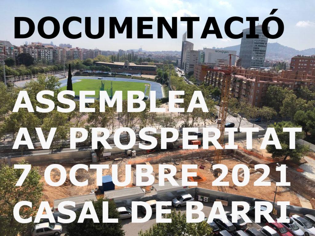 Documentació assemblea general AV Prosperitat 2021